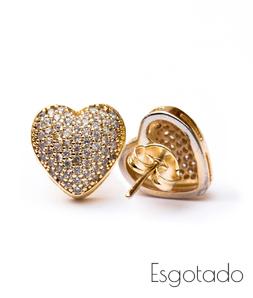 Brinco Coração Pequeno - Folheado ouro 18k