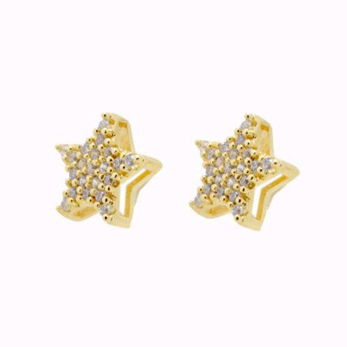 Brinco Star - Folheado ouro 18k