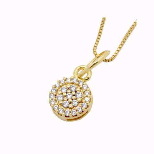 Corrente com Pingente Floral Lírio - Folheado ouro 18k