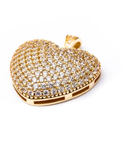 Pingente Coração Médio - Folheado ouro 18k