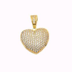 Pingente Coração Pequeno - Folheado ouro 18k