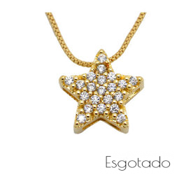 Pingente Estrela - Folheado ouro 18k