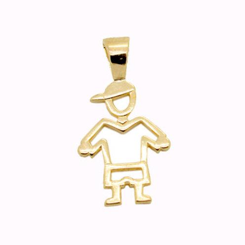 Pingente Menino Vazado - Folheado ouro 18k