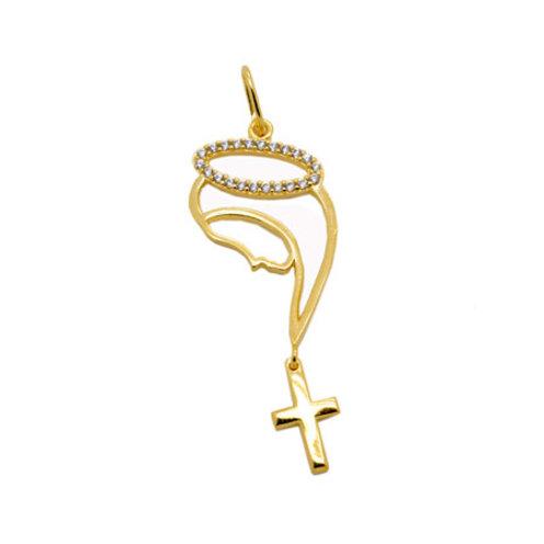 Pingente Nossa Senhora Areola - Folheado ouro 18k