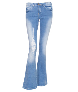 Calça Jeans M. Officer Clara Slim Fit Light Flare
