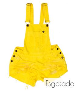 Jardineira 3D Desfiada Amarela