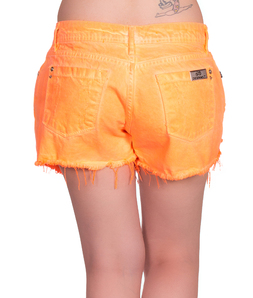 Shorts Saia Detonada Coral Fluor Degrant