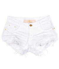 Shorts 3D Desfiado Branco Degrant