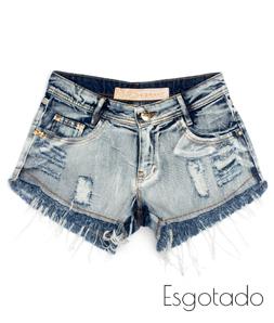 Shorts Desfiado Esponjado Jeans Degrant
