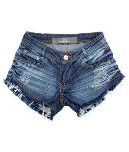 Shorts 3D Jeans Escuro Espatulado Degrant