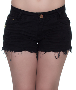 Shorts 3D Desfiado Preto Degrant