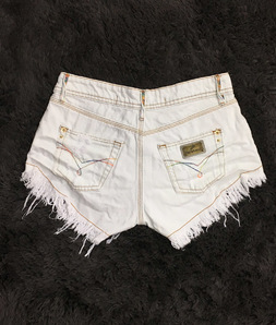 Shorts 3D Jeans Off Passante Torcido Colorido Degrant