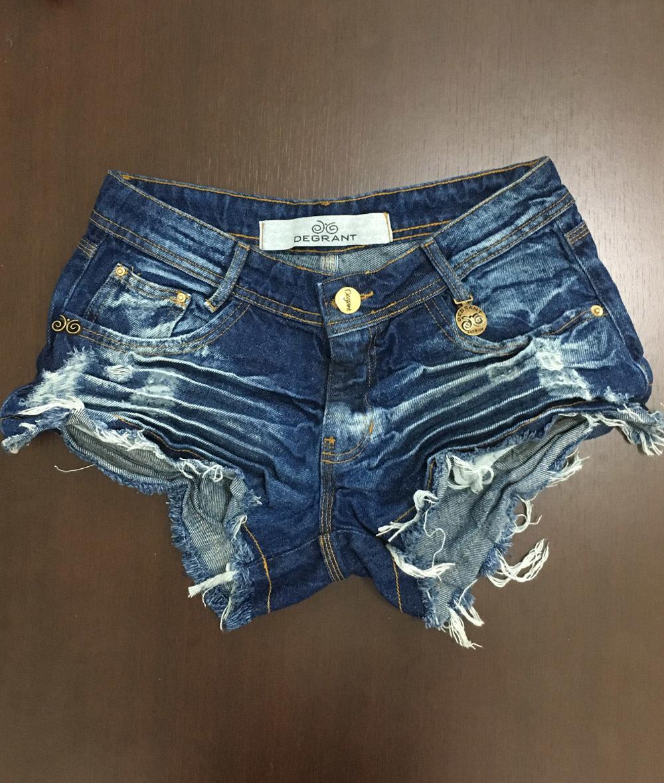 00b556aaa Shorts 3D Desfiado Jeans Médio Escuro Degrant ...