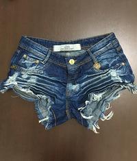 Shorts 3D Desfiado Jeans Médio Escuro Degrant