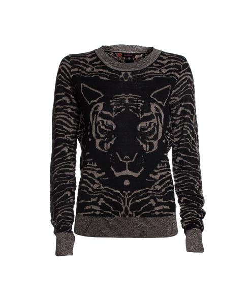 Blusa Tricô Tigre Preto Alpelo